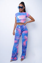 Analda Two Piece Pant Set - Blue