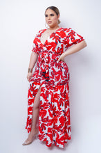 Plus Size Falling For You Maxi Dress - Red
