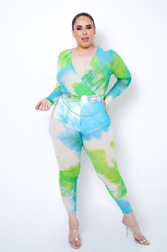 Plus Size Mariah Jumpsuit - Green