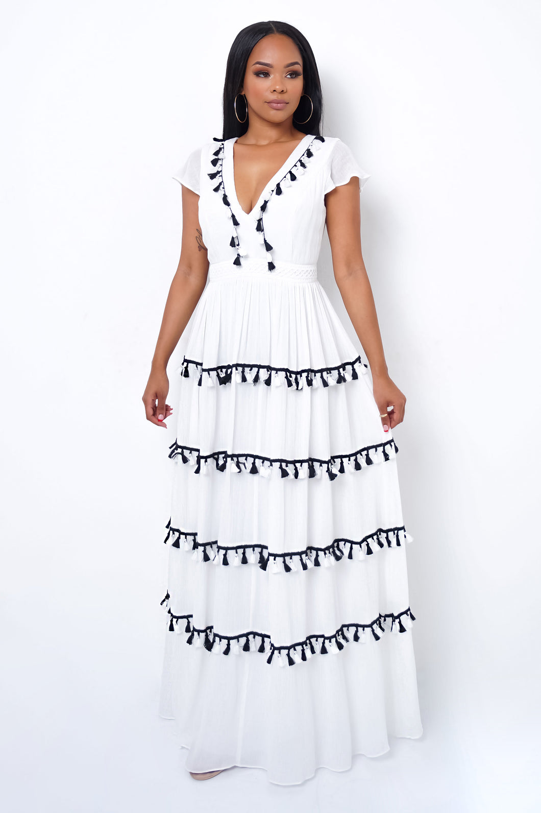 Fair Maiden Maxi Dress - White