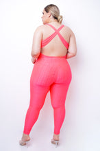 Plus Size Protect Your Look Jumpsuit - Neon Pink