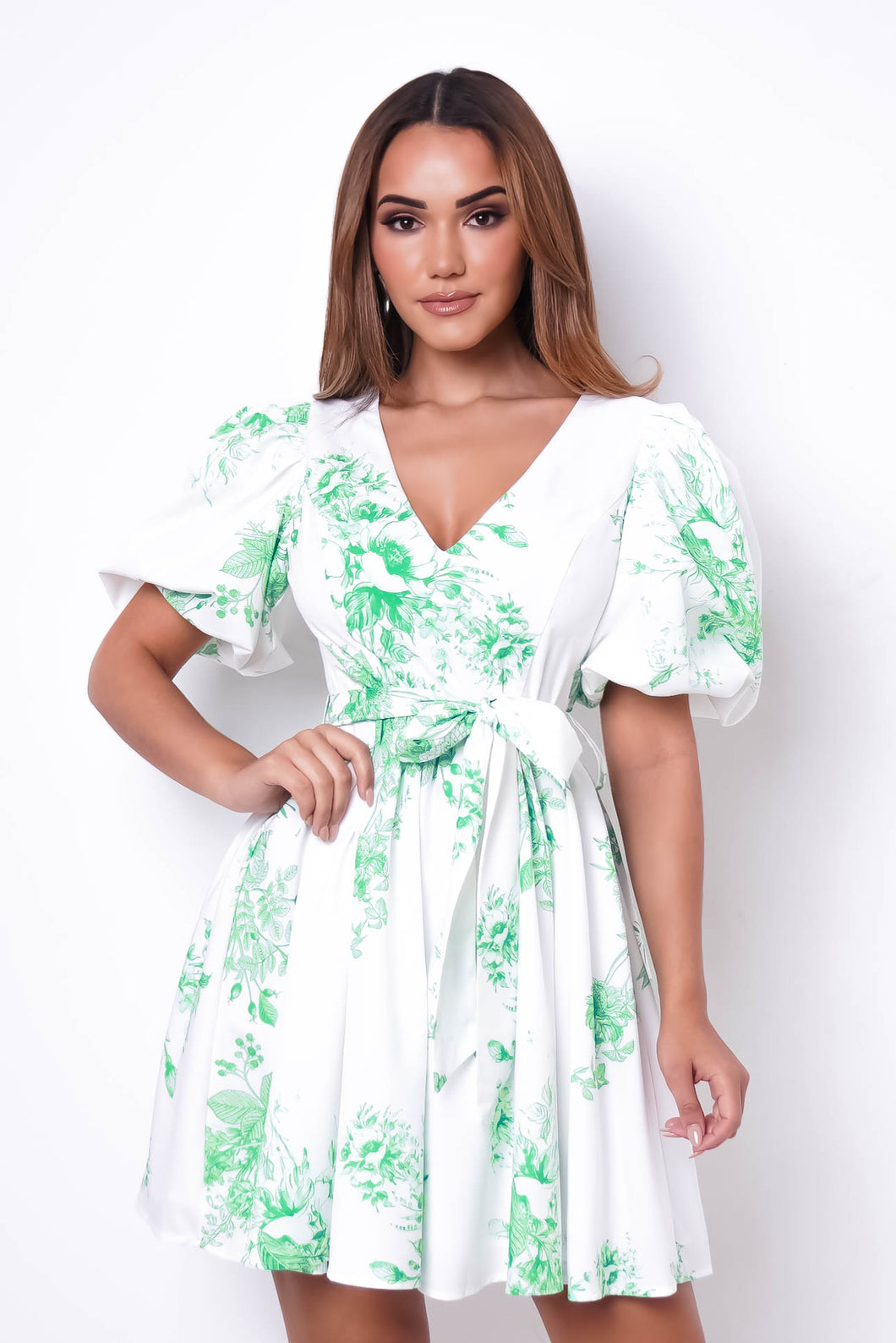 Emma Mini Dress - Green