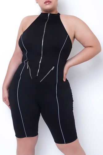 Plus Size Susan Romper - Black