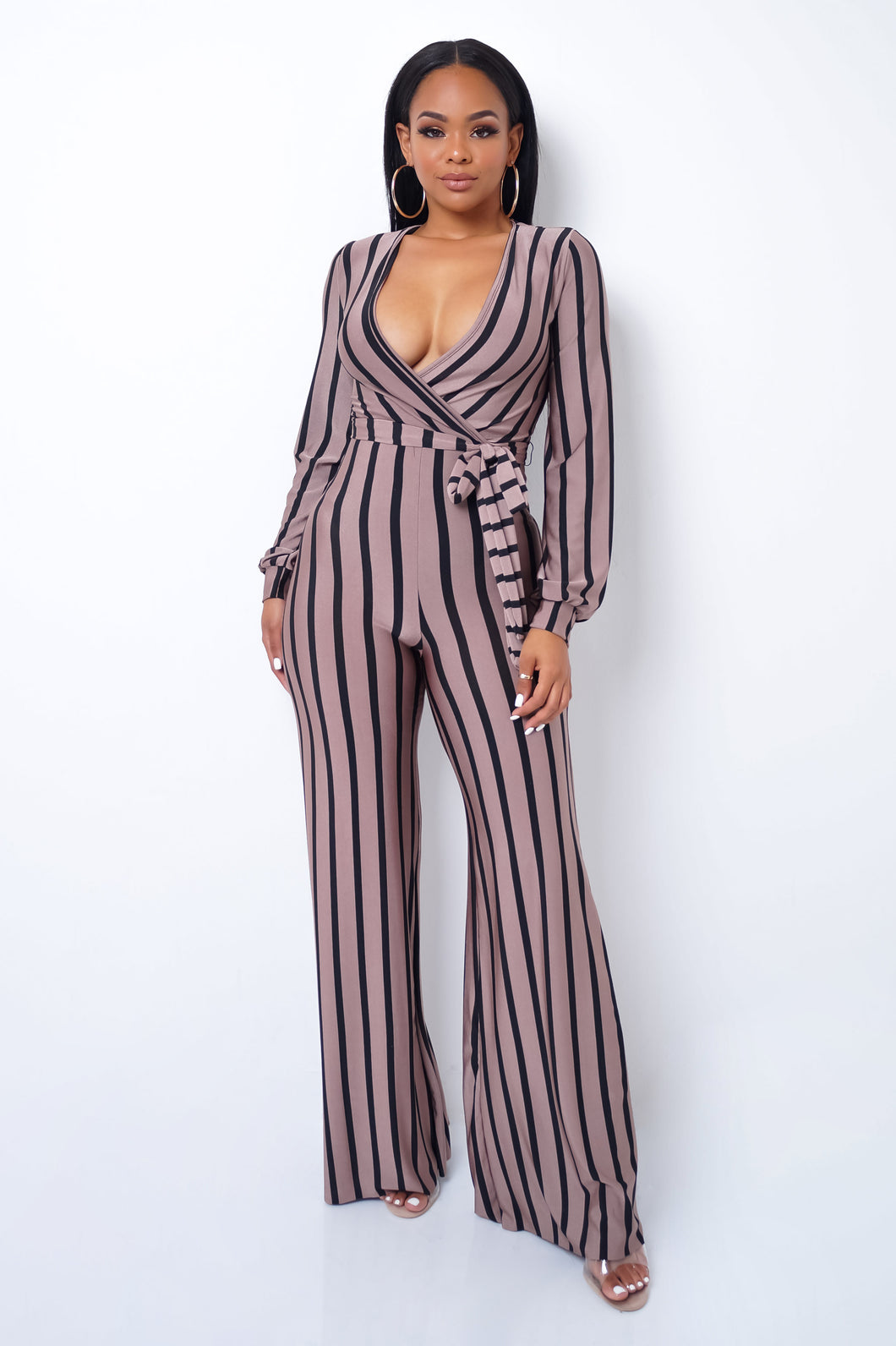Happy Hour Jumpsuit - Taupe