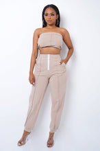 Geraldine Two Piece Pant Set - Beige
