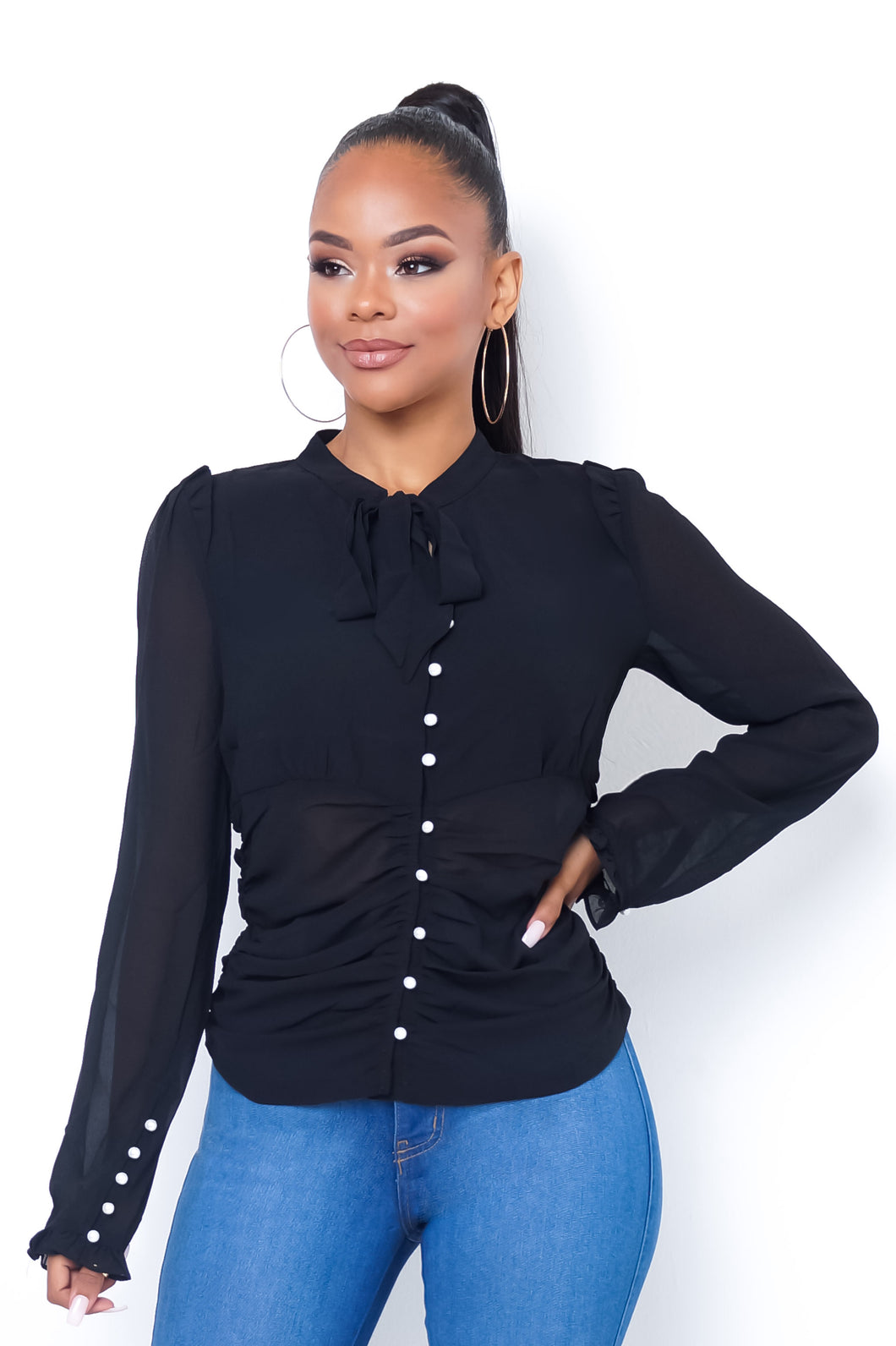 Strictly Business Top - Black