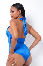 Satin Goddess Bodysuit - Blue