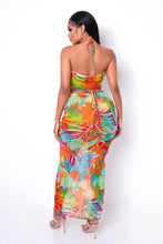 Lets Get Tanned Two Piece Skirt Set - Orange