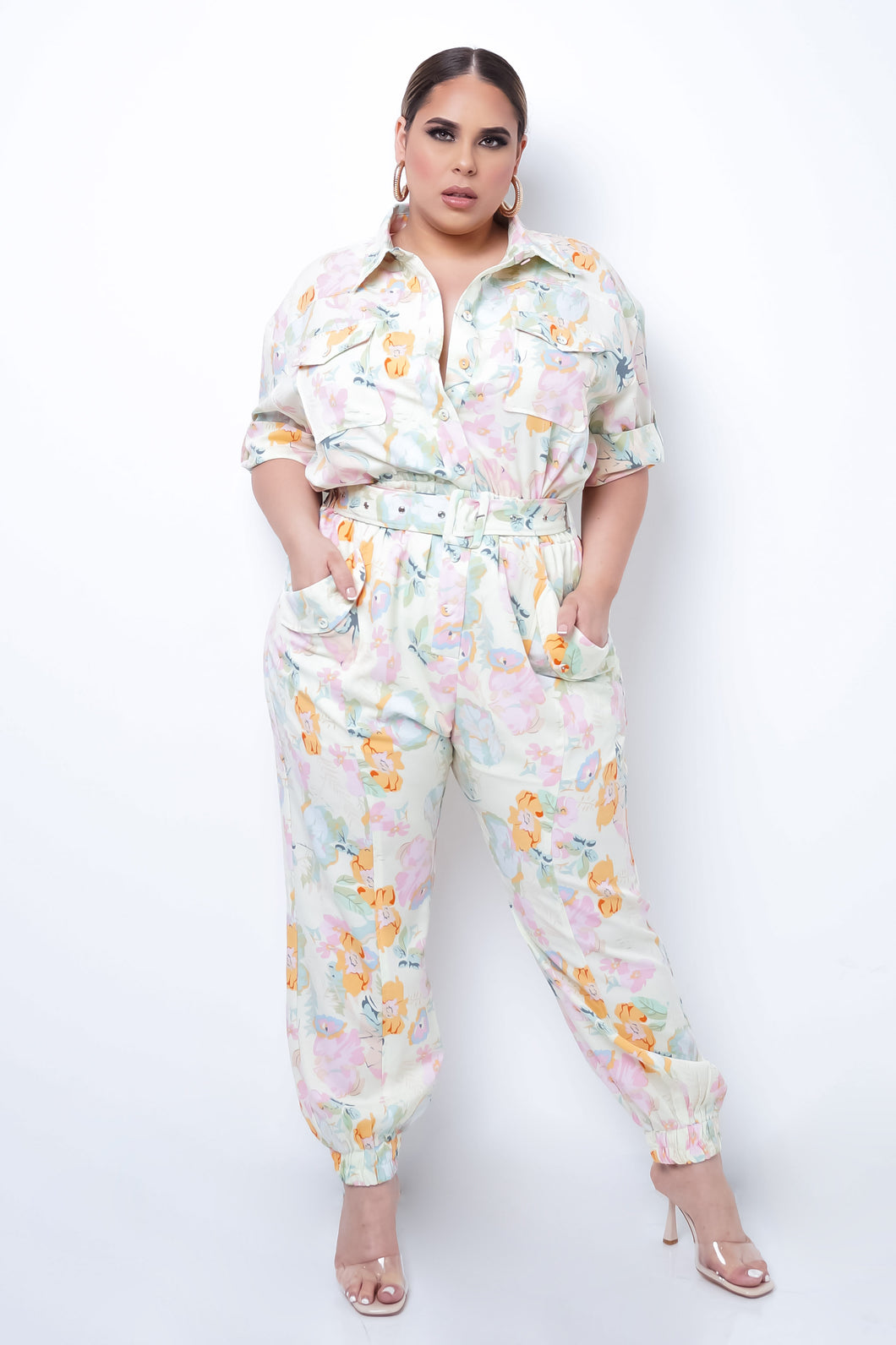 Plus Size Blakely Jumpsuit - Light Green