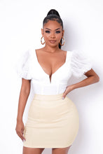 Office Hours Mini Skirt - Cream