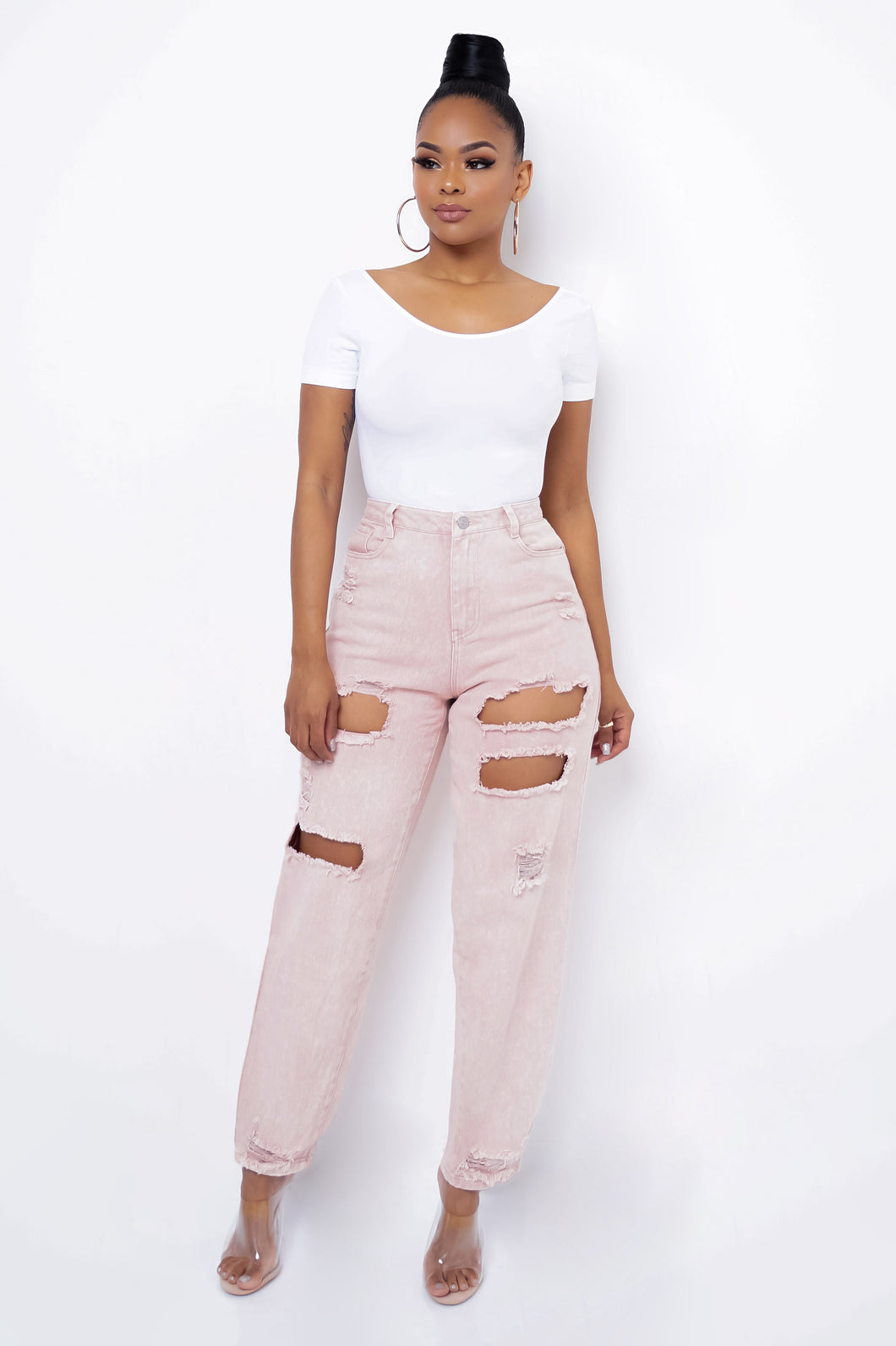 Bombshell Jeans - Pink