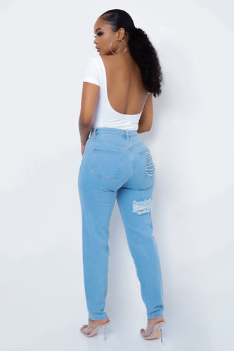 Sneak Peek Jeans - Light Blue