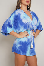 Watercolor Romper - Blue