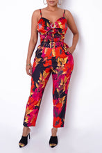 Cancun Two Piece Pant Set - Red