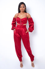 Paloma Two Piece Pant Set - Burgundy