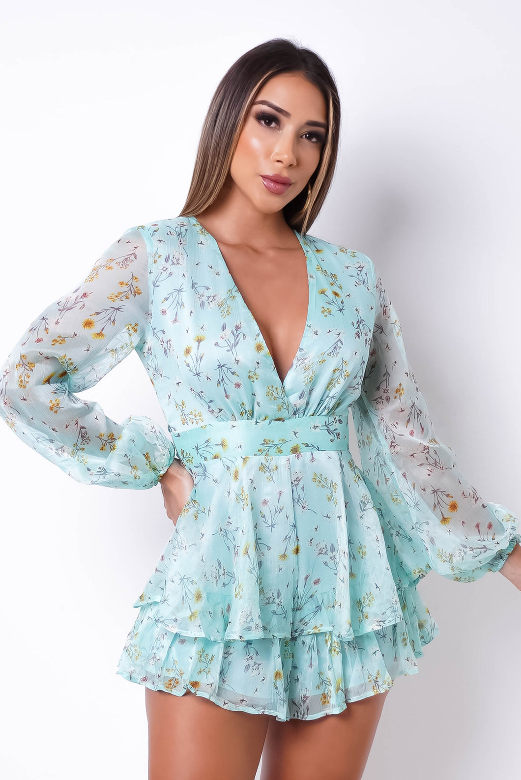 Mirna Romper - Light Blue