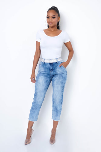 Shinning Bright Jeans - Medium Wash