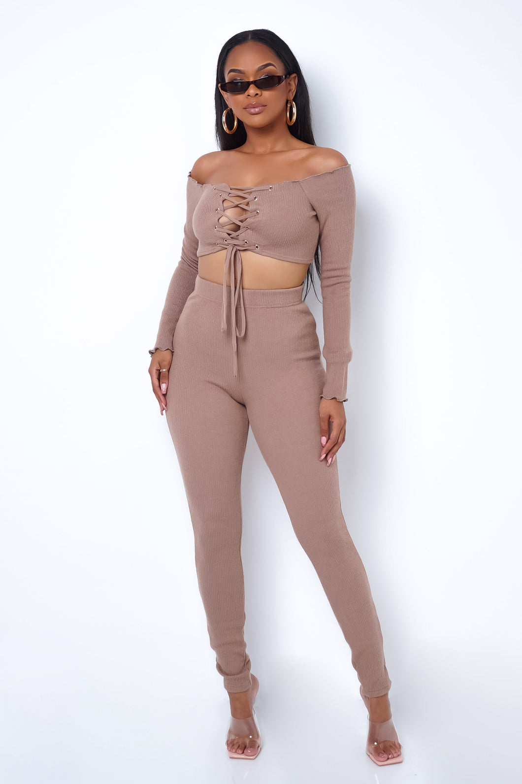Luz Two Piece Pant Set - Taupe