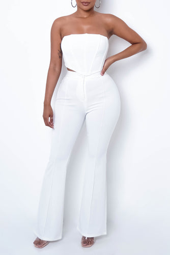 VIP Two Piece Pant Set - White