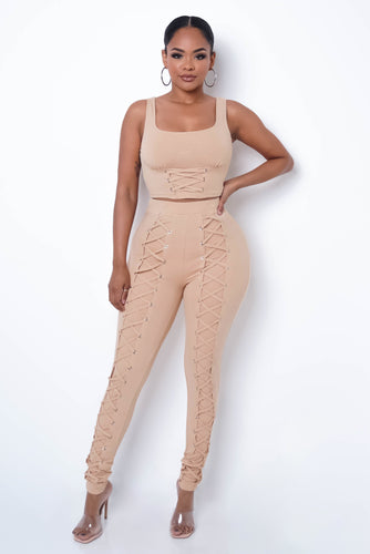 Mirenka Two Piece Pant Set - Nude