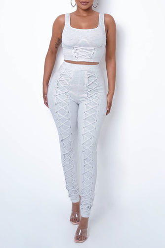 Mirenka Two Piece Pant Set - Gray