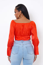 Antonia Crop Top - Red