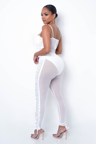 Tammy Two Piece Pant Set - White