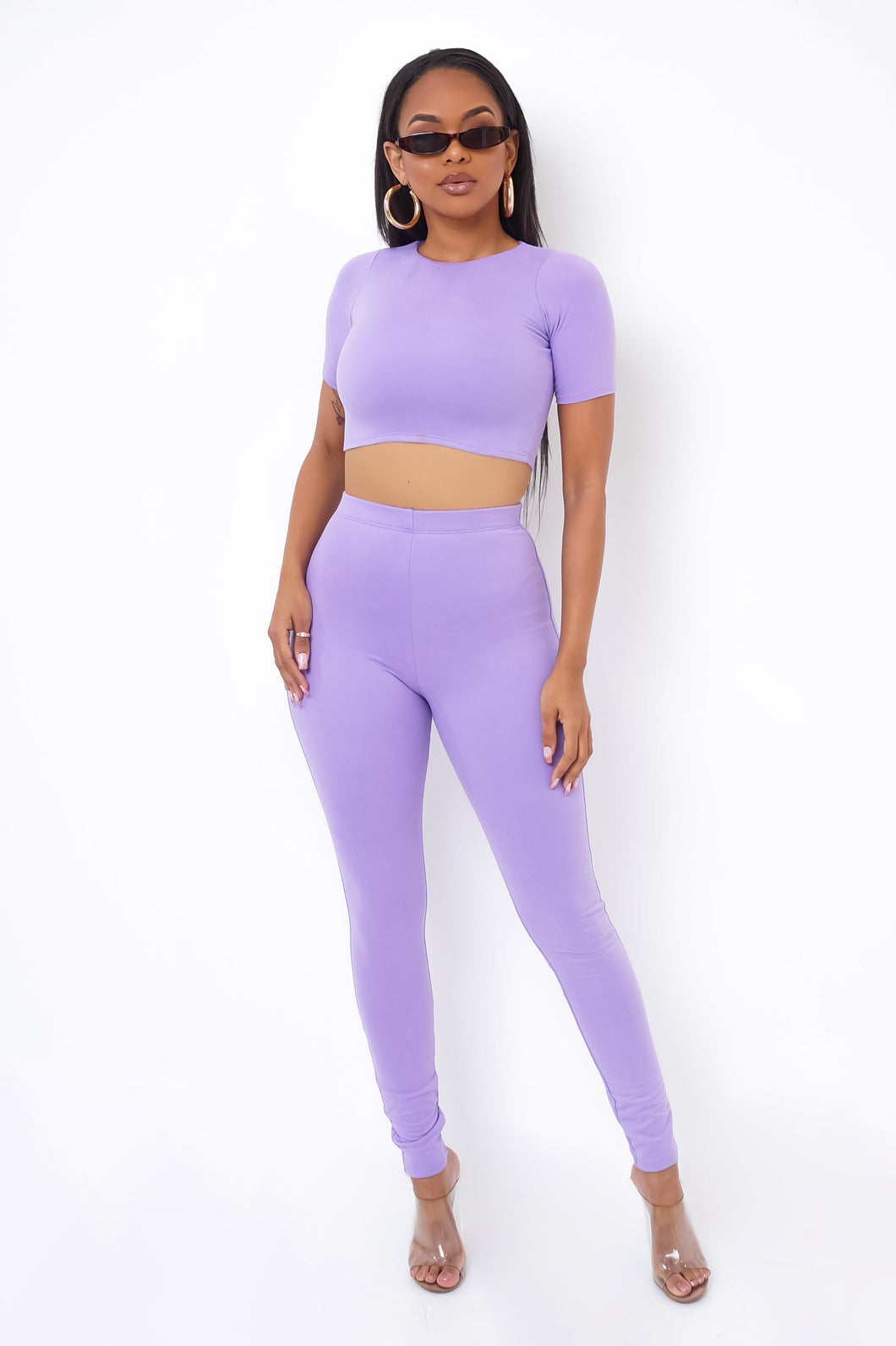 Lorenza Two Piece Pant Set - Lavender