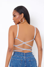 Lolly Crop Top - Baby Blue