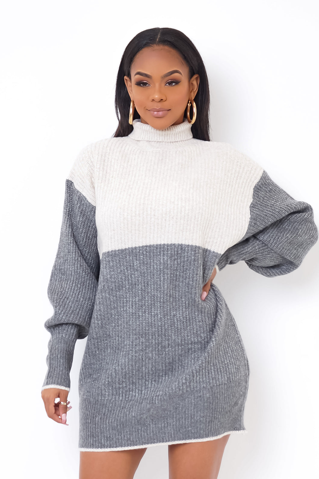 Gary Mini Dress - Gray