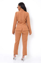 High Standards Two Piece Pant Set - Brown