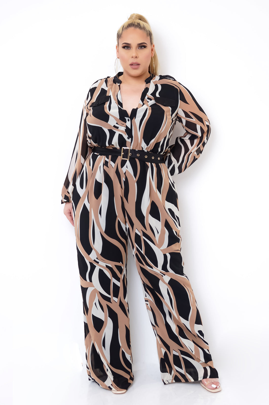Plus Size Helen Jumpsuit - Taupe