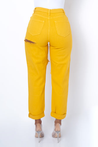 Ask For It Jeans - Mustard
