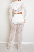 Dazzler Two Piece Pant Set - White