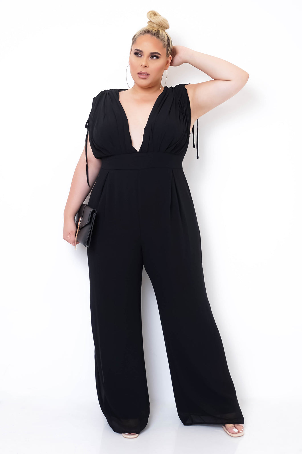 Plus Size Clemencia Jumpsuit - Black