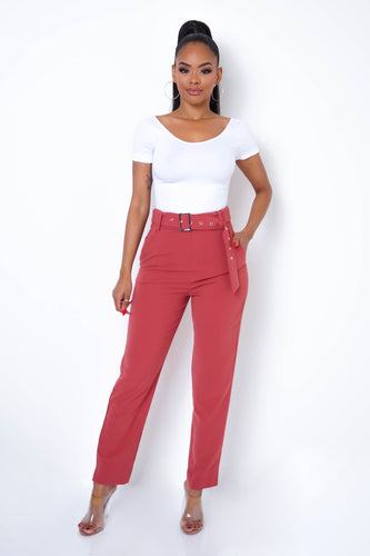 Perfect Silhouette Pants - Salmon