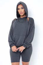 Magaly Two Piece Short Set - Gray