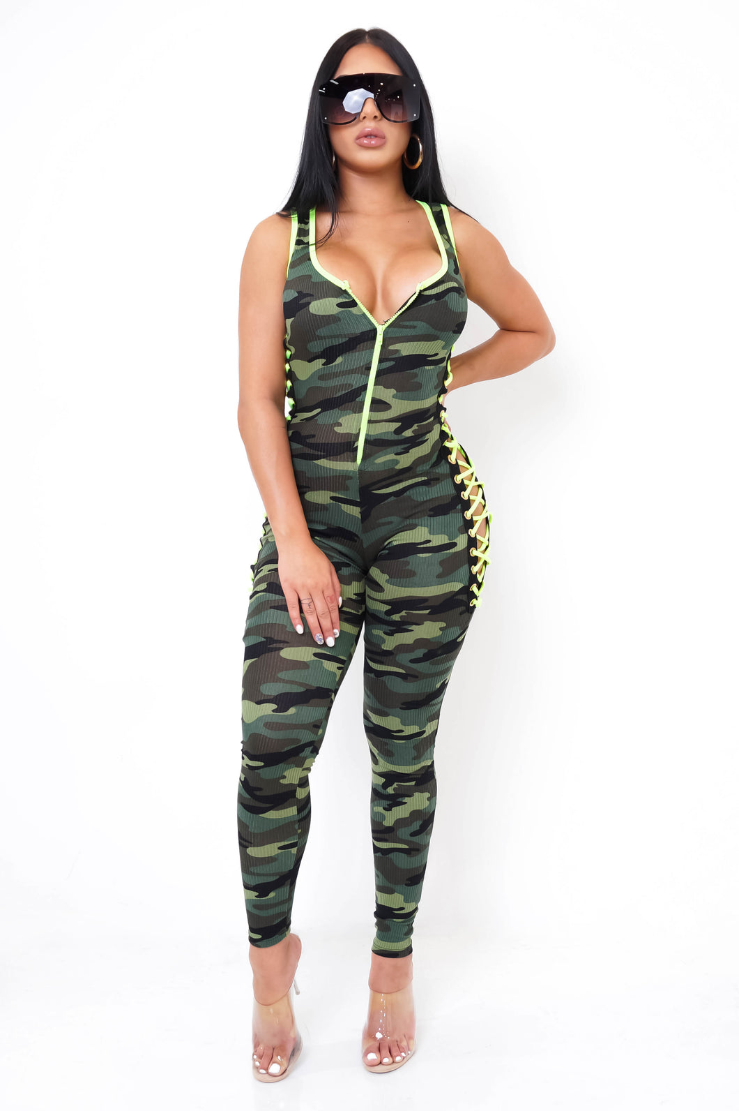 Look For Me Jumpsuit - Green