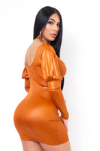 Lila Mini Dress - Orange