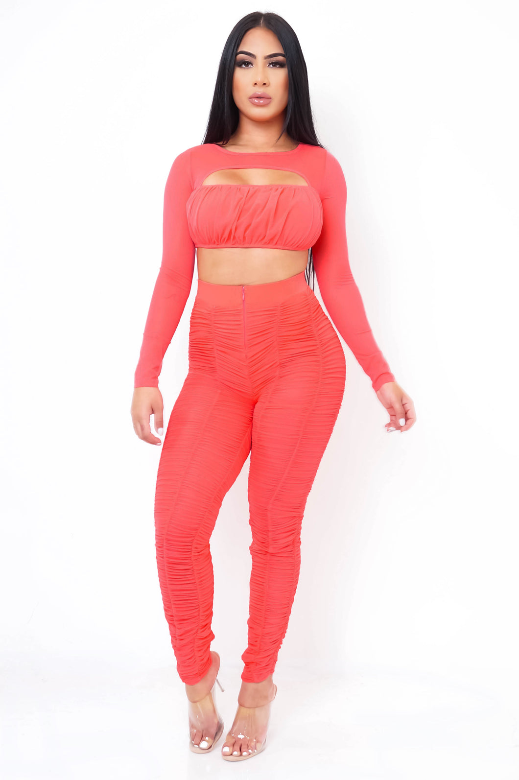 Madonna Two Piece Pant Set - Neon Pink
