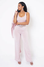 Tulip Three Piece Pant Set - Pink