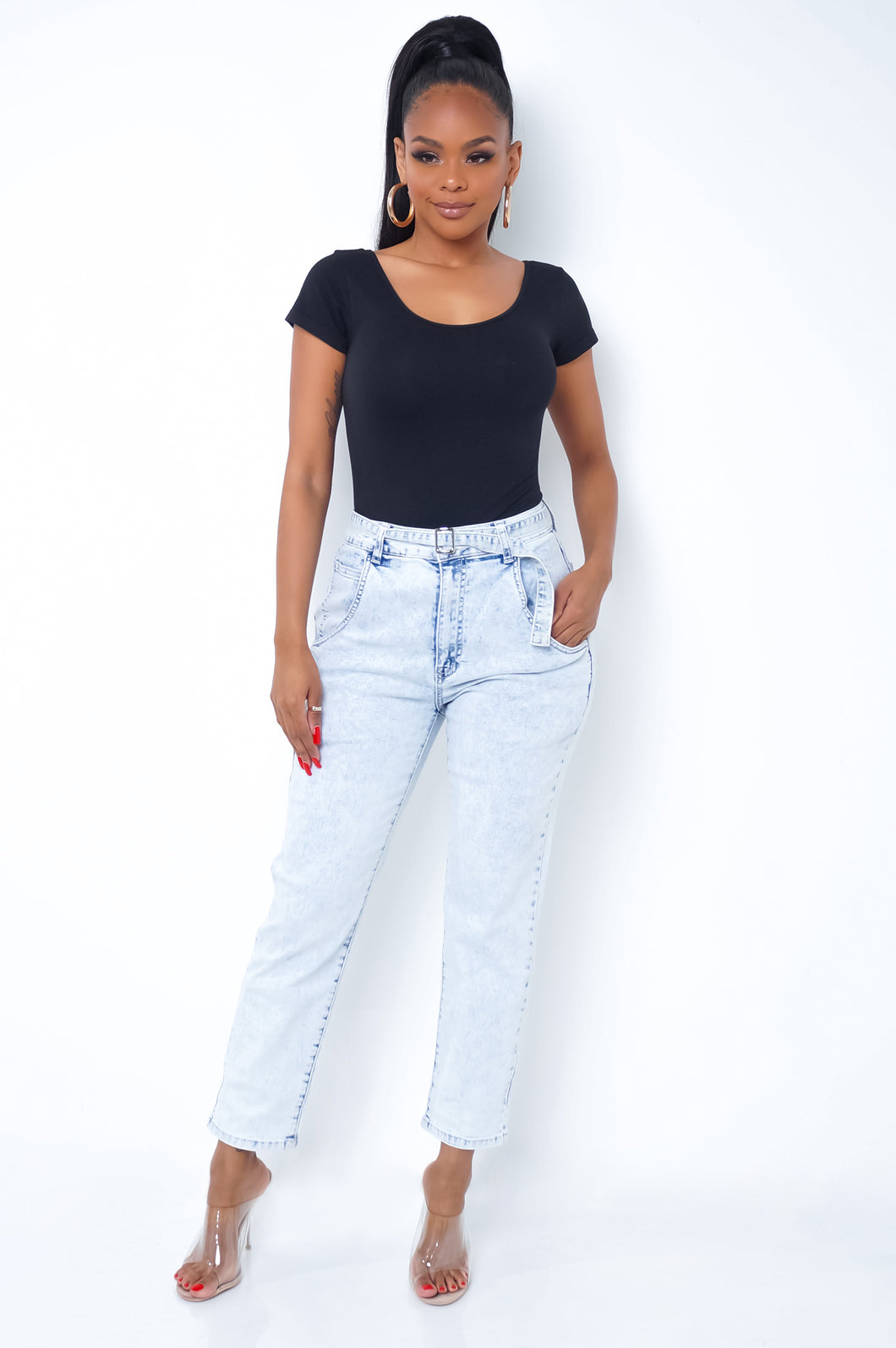 Relaxed Jeans - Light Wash
