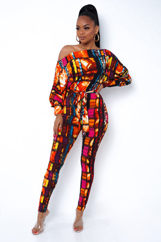 Dana Jumpsuit - Orange