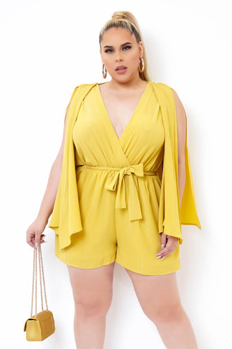 Plus Size Carlota Romper - Yellow