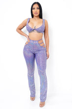 Mermaid Two Piece Short Set - Purple