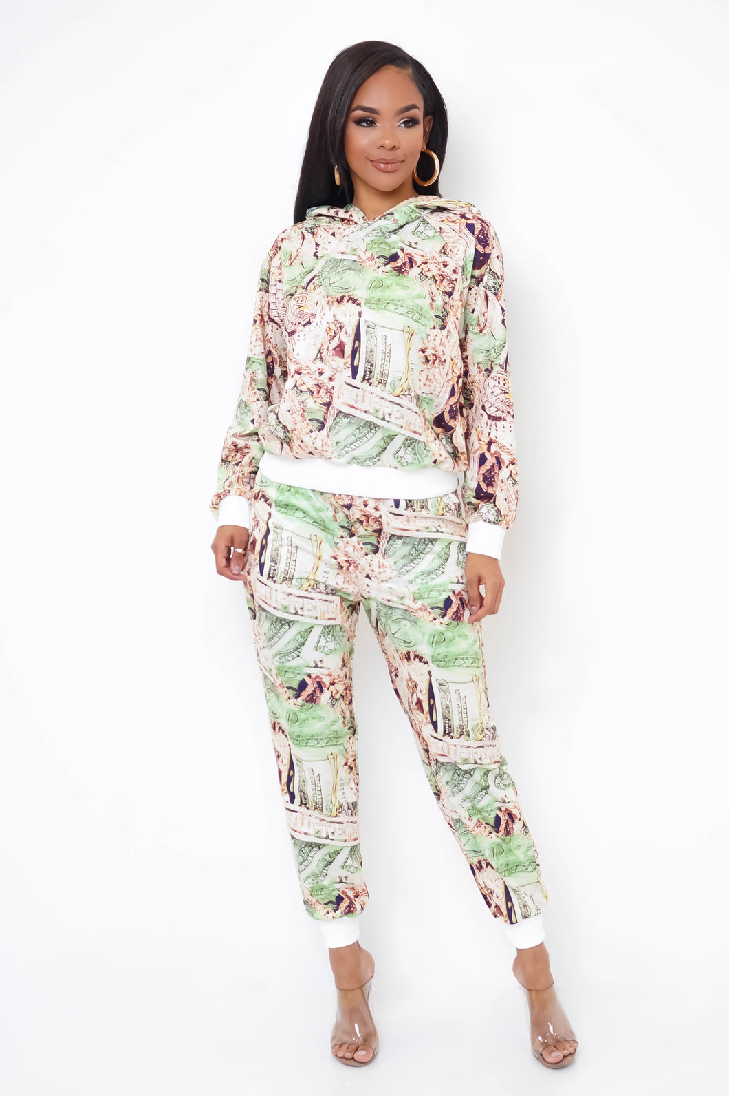 All My Rates Two Piece Pant Set - Green