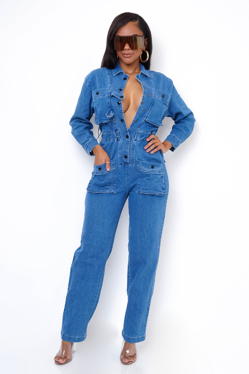 Ghali Jumpsuit - Medium Wash