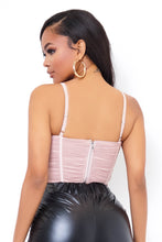 Ribbon Crop Top - Pink