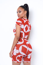 House Of Cards Two Piece Short Set - Red