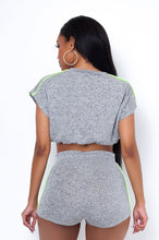 Renata Two Piece Short Set - Gray